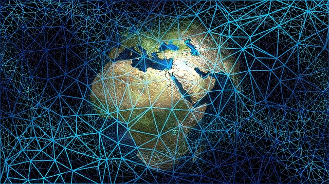 Web Network Globe Continents